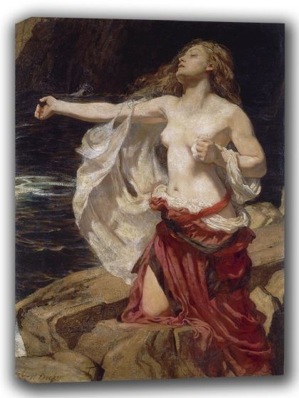Draper, James Herbert: Ariadne. Fine Art Canvas. Sizes: A4/A3/A2/A1 (002220)